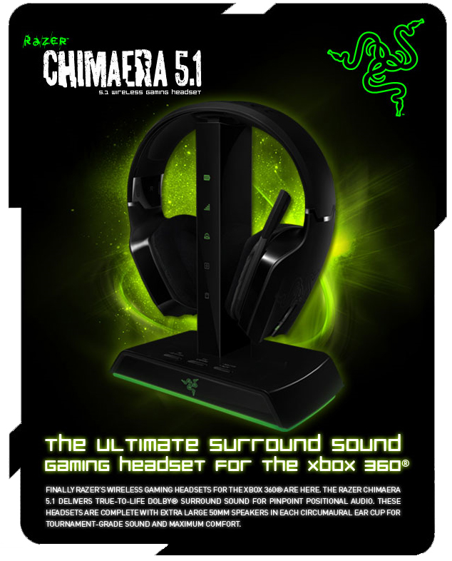 Press Release] Razer™ Chimaera Wireless Gaming Headset for Your Xbox