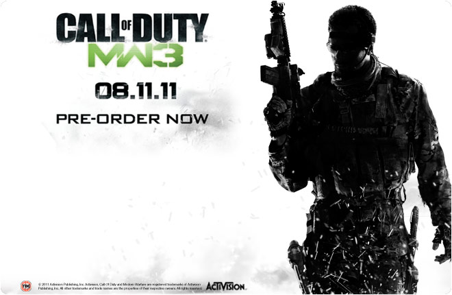 Call Of Duty Modern Warfare 3 Now Available For Pre Order Pc