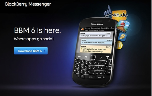 Blackberry Messenger 6 Release...