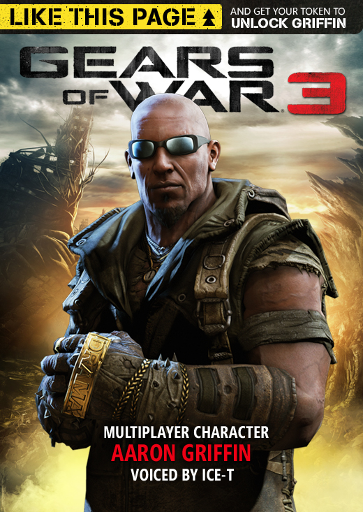 gears of war 3 aaron griffin can be unlocked by liking facebook page