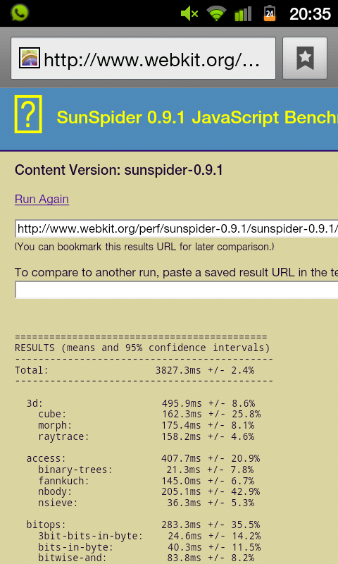 SunSpider-Benchmark-SGSII