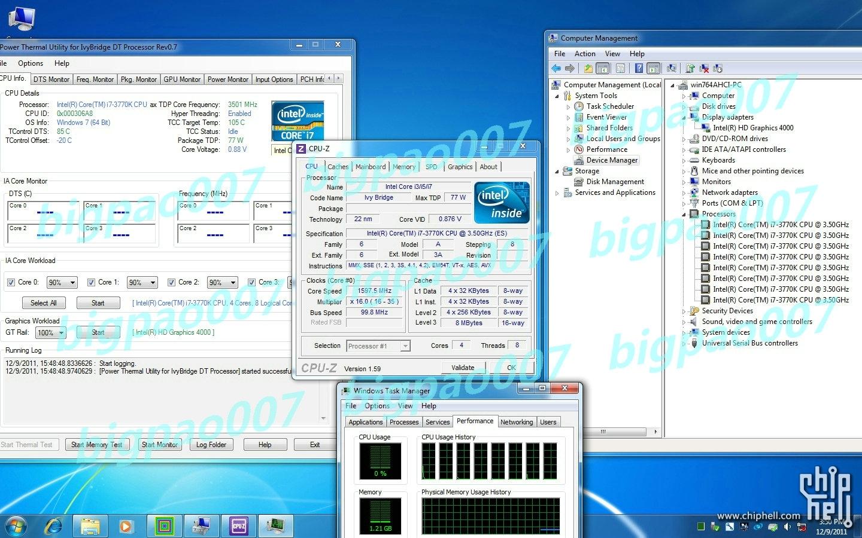Intel Ivy Bridge 22nm Core i7 3770K (ES) Benchmarks Unveiled