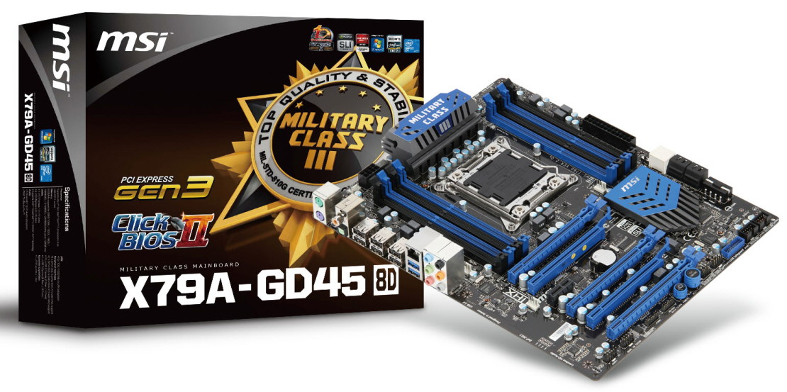 MSI Announces X79A GD45 8D LGA2011 Motherboard Features 8 DIMM Slots To Support 128GB Of Memory