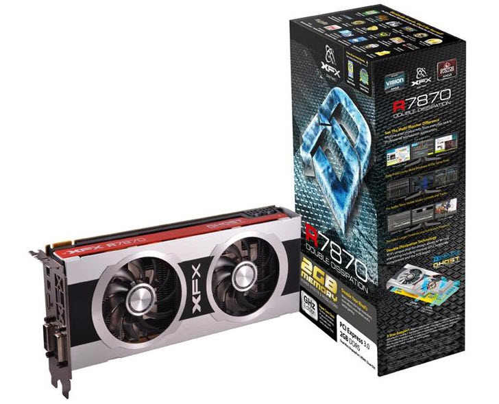 XFX Announces Radeon HD7870 Double Dissipation Graphics Card