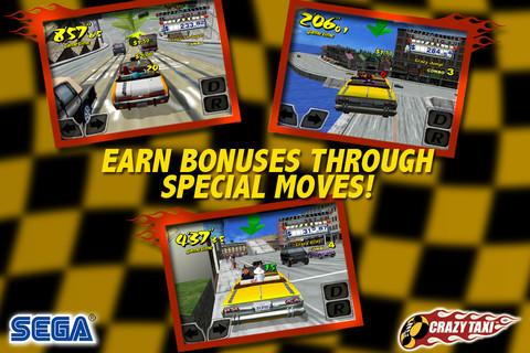 Crazy Taxi game for iPhone