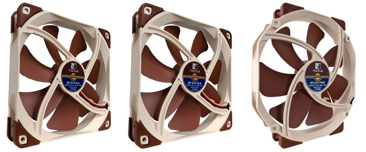 Noctua Introduces NF-A14 FLX, NF-A14 ULN and NF-A15 PWM 140 mm Fans