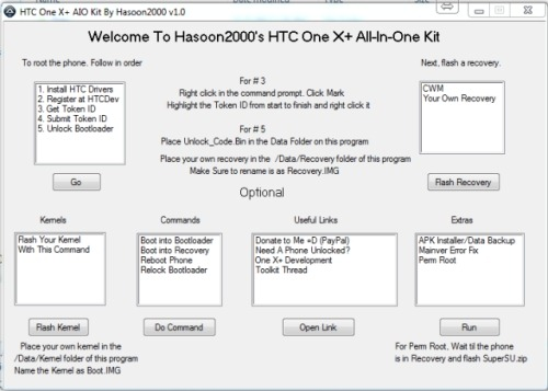 Unlock Bootloader and Root HTC One X+ Easily With All-In-One