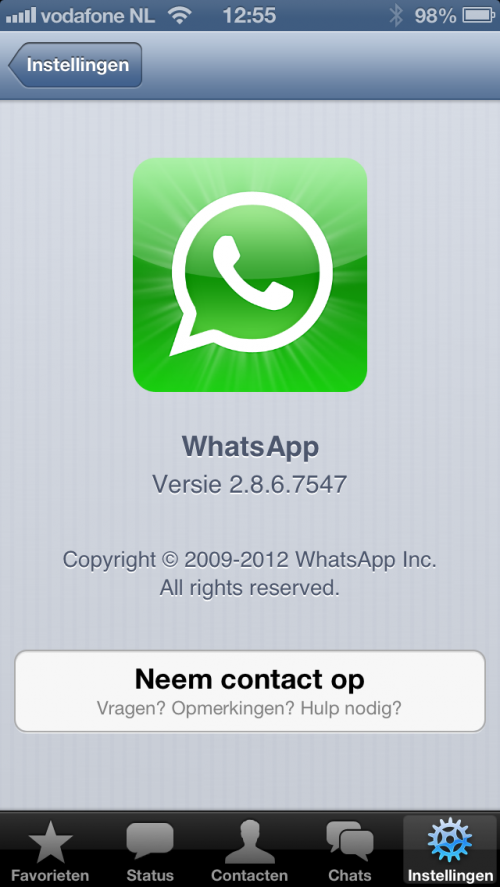 WhatsApp for iPhone 5