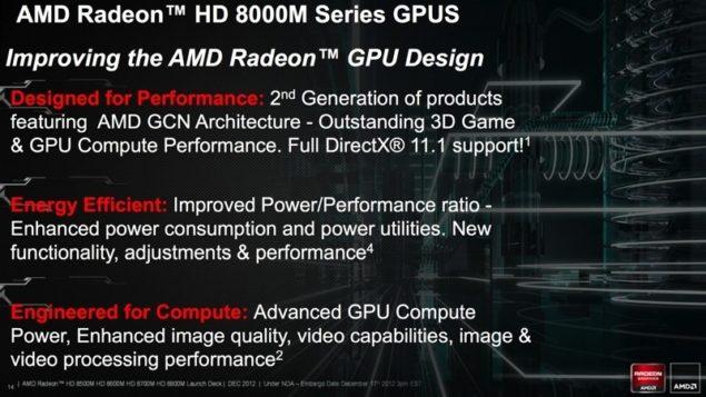 AMD HD 8000M GPUs