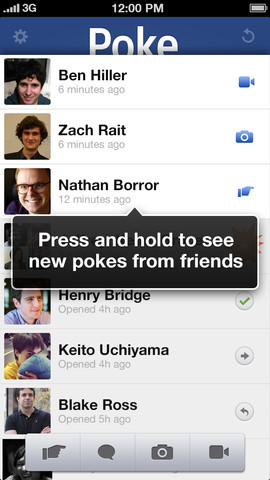 Facebook Poke App for iPhone