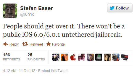 iOS 6 Untethered Jailbreak Release