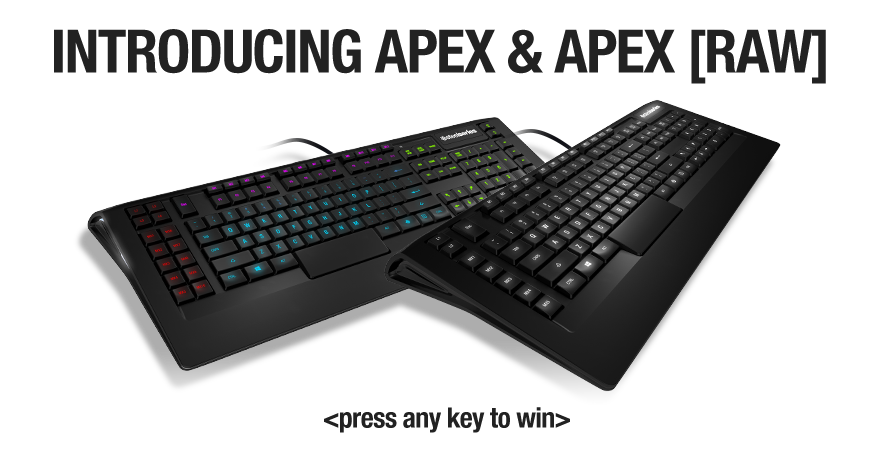 SteelSeries Intros APEX AND APEX [RAW] Gaming Keyboards at CES 2013