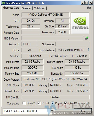 GeForce GTX 660 SE