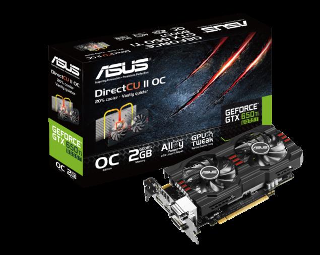 ASUS GTX 650 Ti Boost DirectCU II