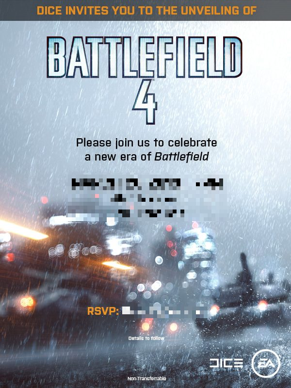 Battlefield 4 invite