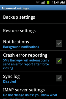 backup sms and mms on android