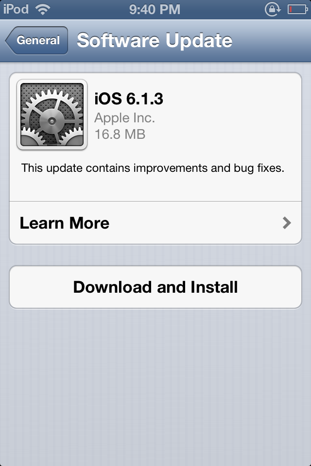 Download iOS 6.1.3 Firmware