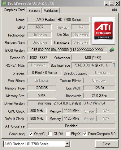 HD 7730 GPU-Z