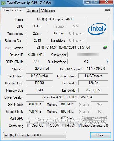 Haswell HD 4600 GPU