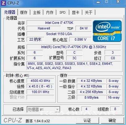 4770K 4.5 GHz