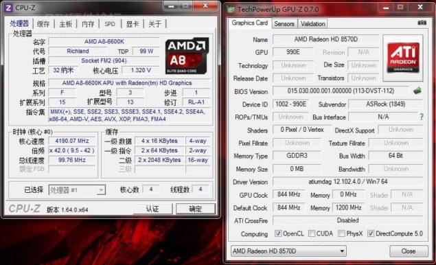 A8-6600K CPUz