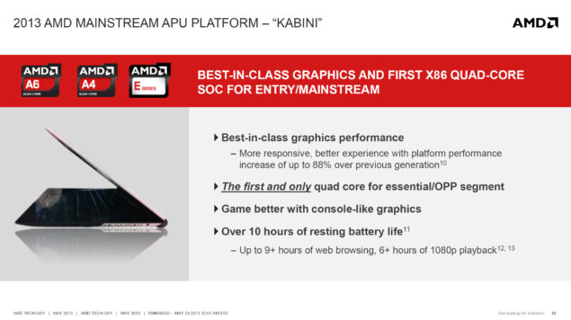 AMD Kabini Mainstream Platform