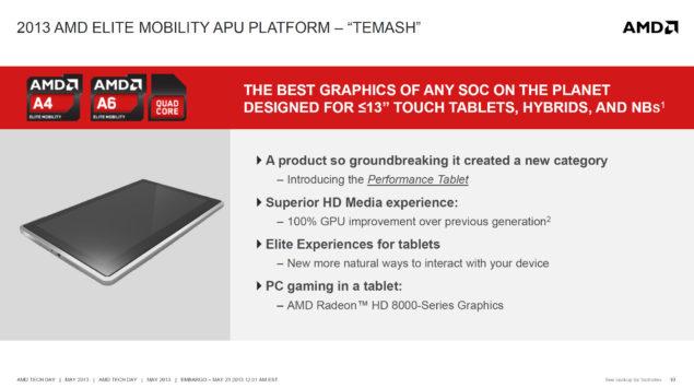 AMD Temash Elite Mobility