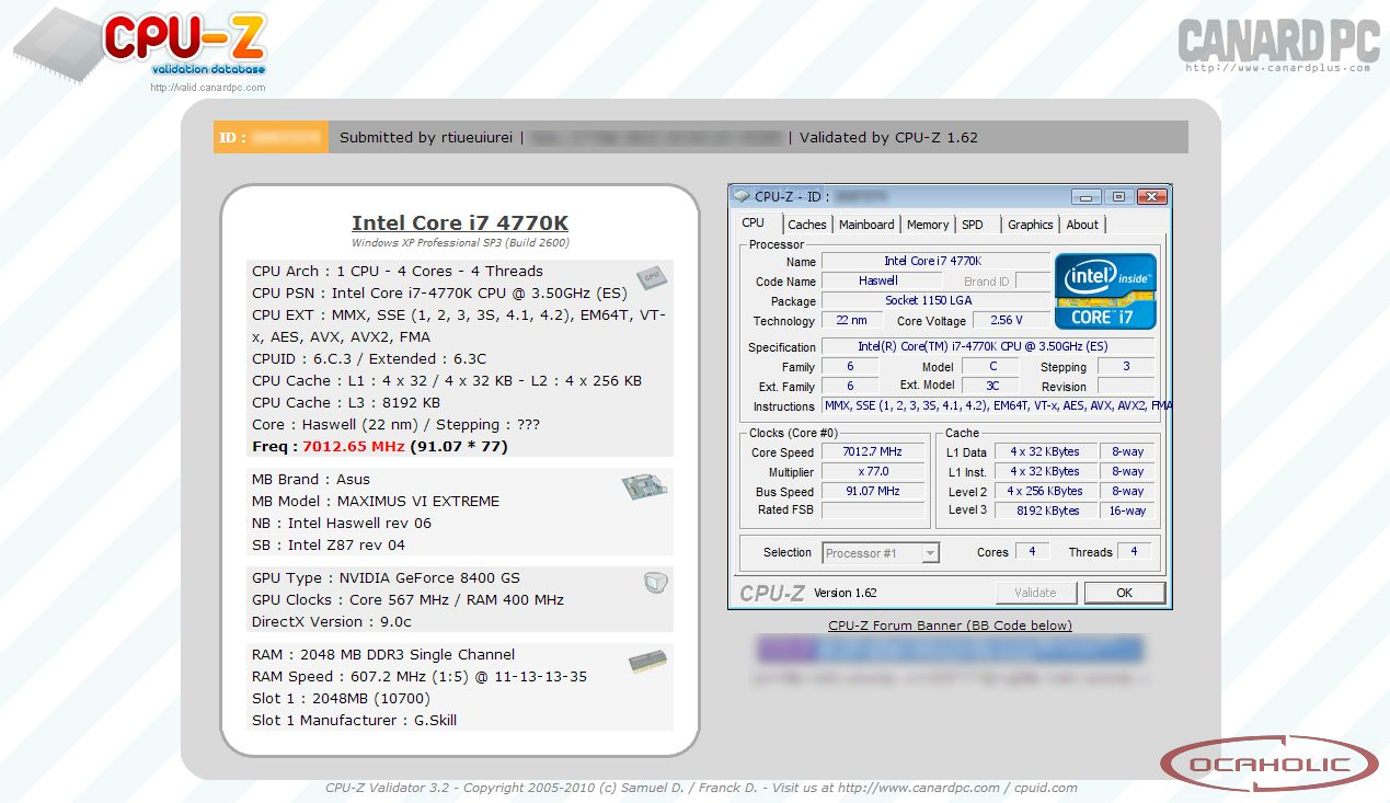 Intel Core i7-4770K Overclocked to 7 GHz - Several Z87 Motherboards