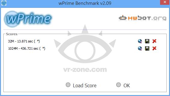 Core i7-4800MQ Wprime