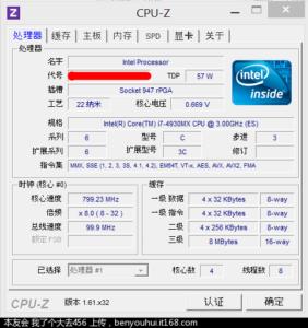 Core i7-4930MX CPUz