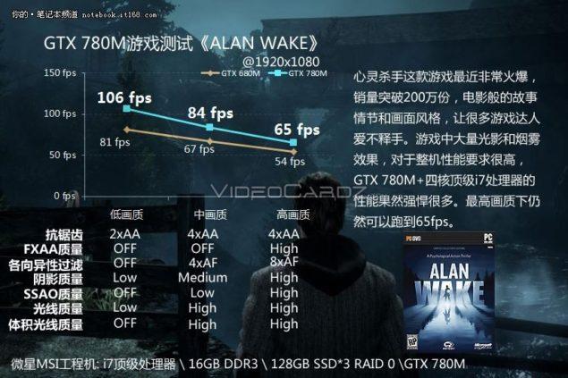 GTX 780M Alan Wake