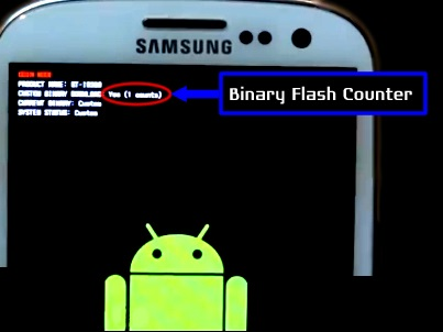 binary counter galaxy s3 sgh-t999
