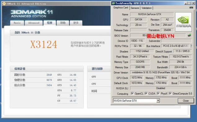 GTX 760 3DMark 11