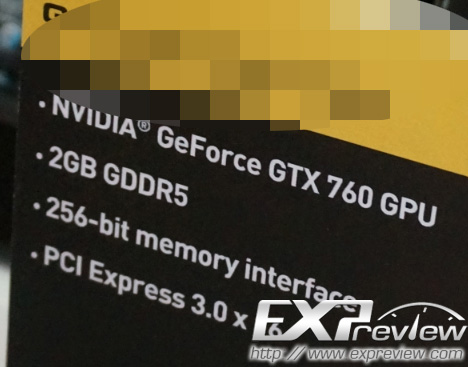 GeForce GTX 760 Specs