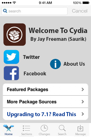 Cydia For iOS 7 Concept Too Has A Flat UI