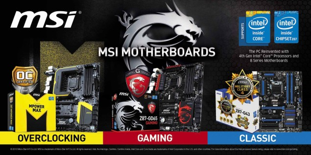 MSI Z87 Lineup