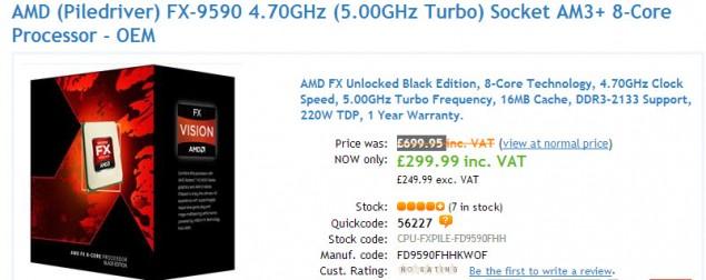 AMD FX-9590 £299.99