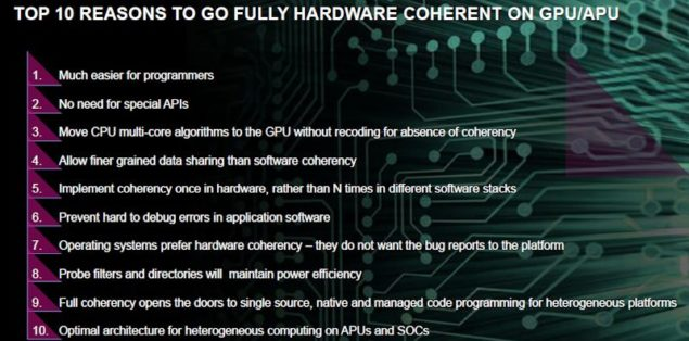 AMD HUMA Coherent Unified Memory Path