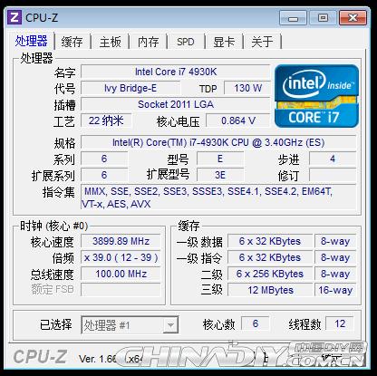 Core i7-4930K CPUz