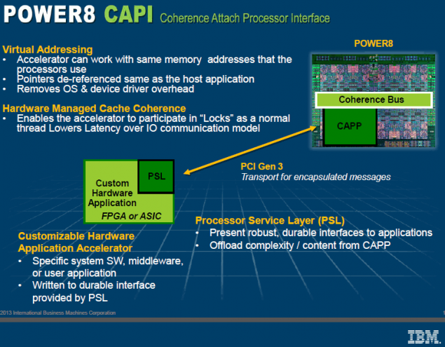 IBM Power8 Processor CAPI