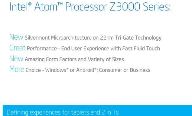 Intel Atom Z3000 Series Bay Trail