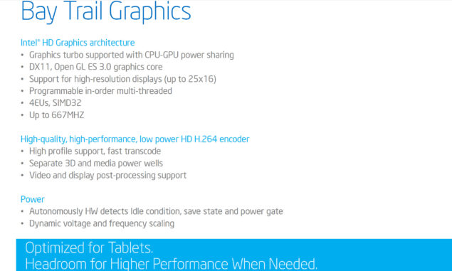 Intel Bay Trail Z3000 Graphics