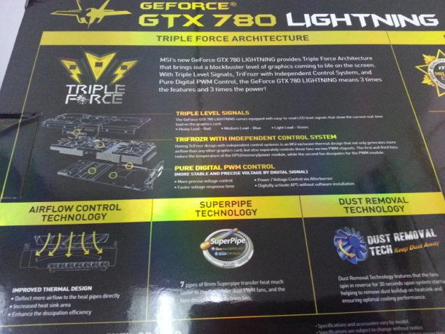 MSI GTX 780 Lightning Box