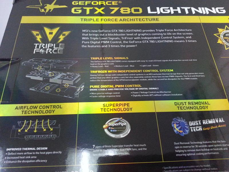 MSI GeForce GTX 780 LIGHTNING Flagship Graphics Card