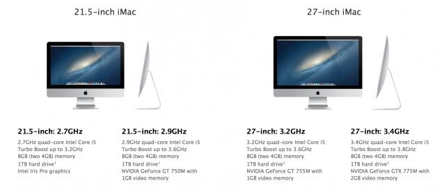 Apple iMac 2013 21.5 27 inch