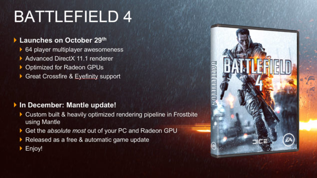 Battlefield 4 AMD Mantle API
