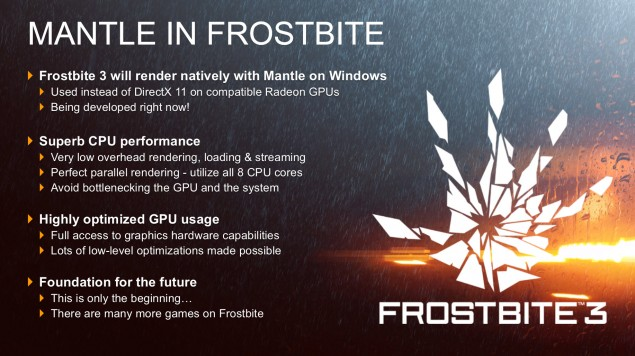 Frostbite 3 AMD Mantle API