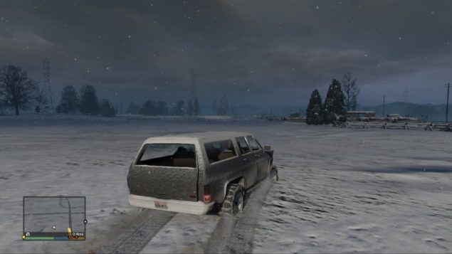 GTA V Snow Driving