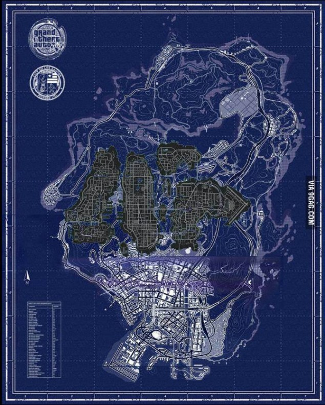 GTA V vs GTA IV Map