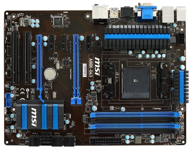 MSI A88X-G43 A88X Chipset Motherboard